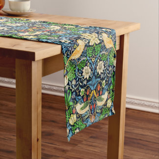 Art Nouveau Bird and Flower Tapestry Pattern Short Table Runner