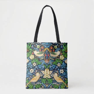 Art Nouveau Bird and Flower Tapestry Pattern Tote Bag