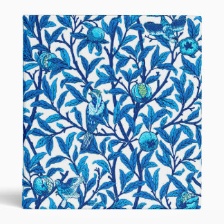 Art Nouveau Bird and Pomegranate, Cobalt Blue 3 Ring Binder