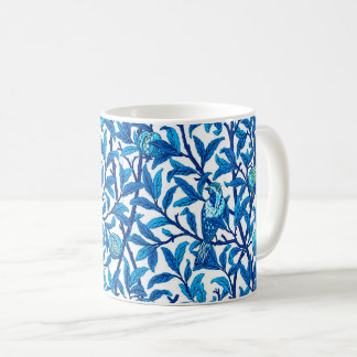 Art Nouveau Bird and Pomegranate, Cobalt Blue Coffee Mug