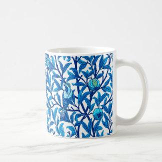 Art Nouveau Bird and Pomegranate, Cobalt Blue Coffee Mug