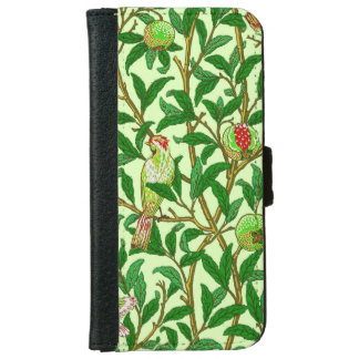 Art Nouveau Bird and Pomegranate, Lime Green iPhone 6 Wallet Case