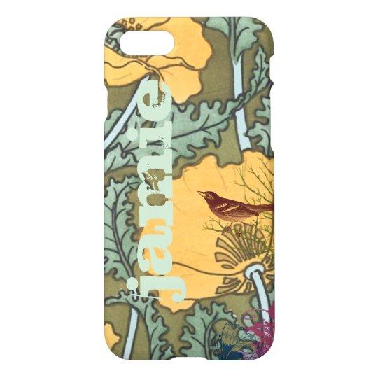Art Nouveau Bird Floral iPhone Cover