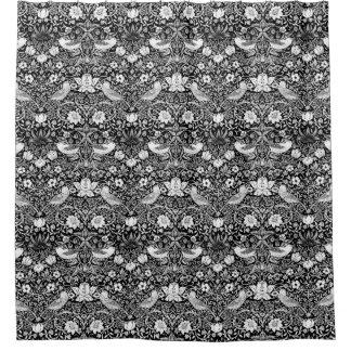 Art Nouveau Bird & Flower Tapestry, Black & White