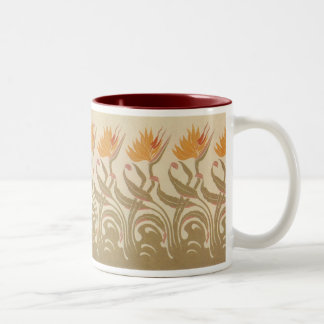 Art Nouveau Bird of Paradise Two-Tone Coffee Mug
