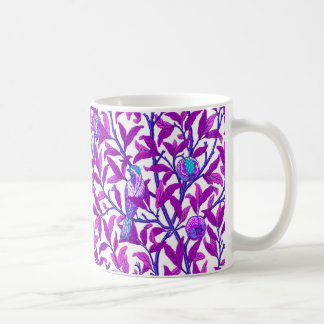 Art Nouveau Bird & Pomegranate, Amethyst Purple Coffee Mug