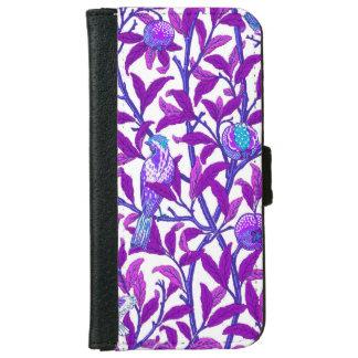 Art Nouveau Bird & Pomegranate, Amethyst  Purple iPhone 6 Wallet Case