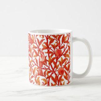 Art Nouveau Bird & Pomegranate, Mandarin Orange Coffee Mug
