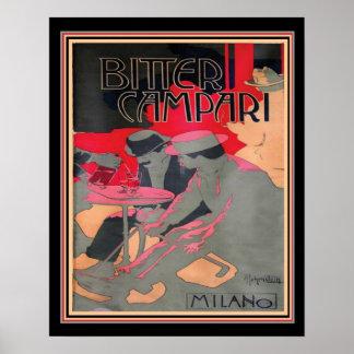 """Art Nouveau """"Bitter Campari by Adolfo Hohenstein, Poster"""