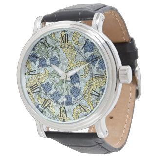 Art nouveau bluebells watches