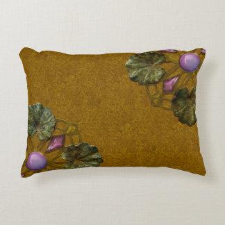 Art Nouveau Bronze and Amethyst Lily Pad Companion Decorative Pillow