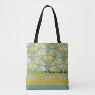 Art Nouveau Butterfly Design Tote Bag