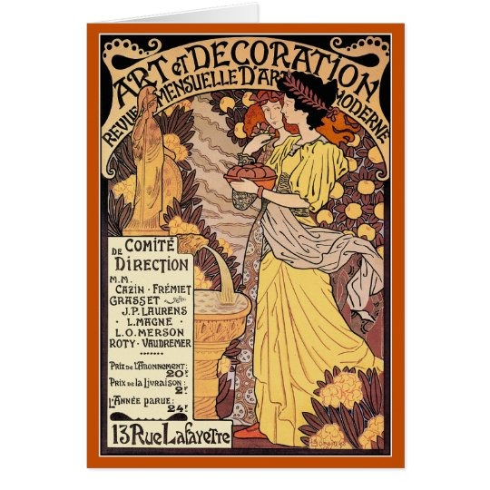 Art Nouveau Card: Art & Decoration Card