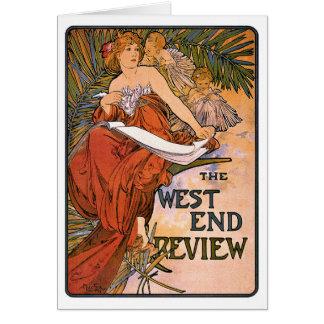 Art Nouveau Card: - Mucha - West End Review Card