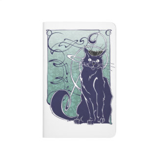 Art Nouveau Cat Pocket Journal