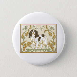 Art Nouveau Cavalier Spaniel Illustration 2 Inch Round Button