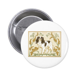 Art Nouveau Cavalier Spaniel Illustration 2 Inch Round Button