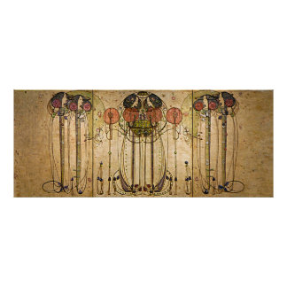 Art Nouveau Charles Mackintosh The Wassail Poster