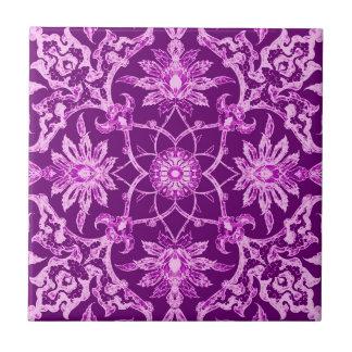 Art Nouveau Chinese Pattern - Amethyst Purple Tiles