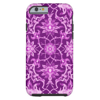 Art Nouveau Chinese Pattern - Amethyst Purple Tough iPhone 6 Case