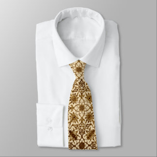 Art Nouveau Chinese Pattern - Brown and Beige Tie