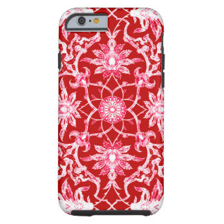 Art Nouveau Chinese Pattern - Deep Red Tough iPhone 6 Case