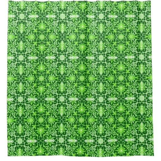 Art Nouveau Chinese Pattern - Emerald Green