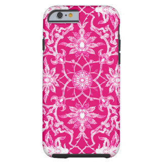 Art Nouveau Chinese Pattern - Fuchsia Pink Tough iPhone 6 Case