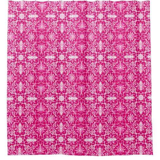 Art Nouveau Chinese Pattern - Fuschia Pink