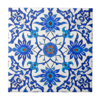Art Nouveau Chinese Tile - Cobalt Blue & White