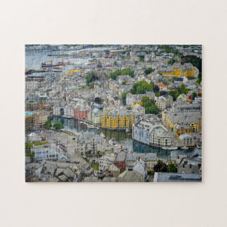 Art Nouveau city Alesund, Norway puzzle