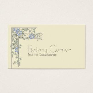 Art nouveau clematis business card