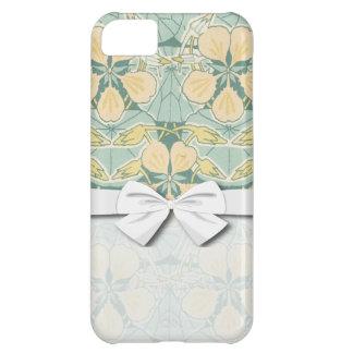art nouveau dainty vintage floral pattern iPhone 5C cover