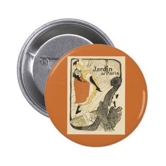 Art Nouveau Dancer Jane Avril, Toulouse Lautrec 2 Inch Round Button