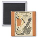 Art Nouveau Dancer Jane Avril, Toulouse Lautrec Square Magnet
