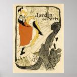 Art Nouveau Dancer Jane Avril, Toulouse Lautrec Poster