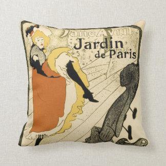 Art Nouveau Dancer Jane Avril, Toulouse Lautrec Throw Pillow