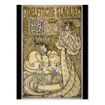 Art Nouveau Delftsche Slaolie Delft Post Cards