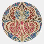 Art Nouveau Design #10 at Emporio Moffa Classic Round Sticker