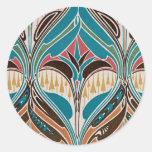 Art Nouveau Design #11 at Emporio Moffa Classic Round Sticker