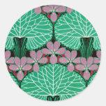 Art Nouveau Design #12 at Emporio Moffa Classic Round Sticker