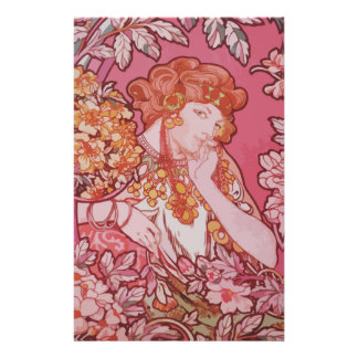 "Art Nouveau design 5.5"" x 8.5"" Stationery"