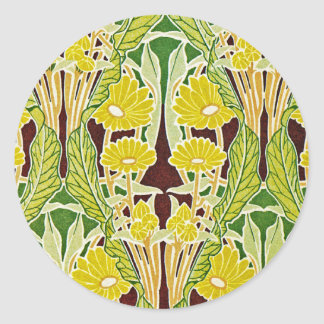 Art Nouveau Design #7 at Emporio Moffa Classic Round Sticker