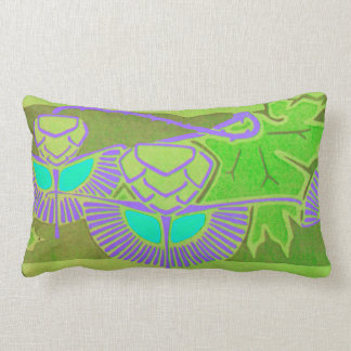 Art Nouveau Design Lumbar Pillow