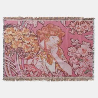 Art Nouveau design Throw Blanket