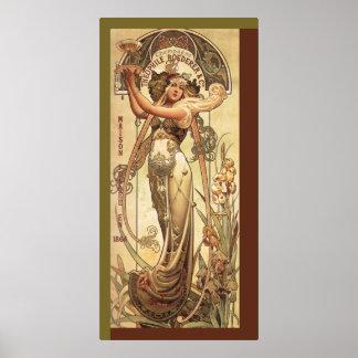 Art Nouveau Drink Advertisement Poster