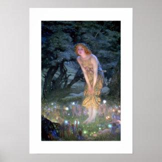 Art Nouveau Fantasy  Print 20x20