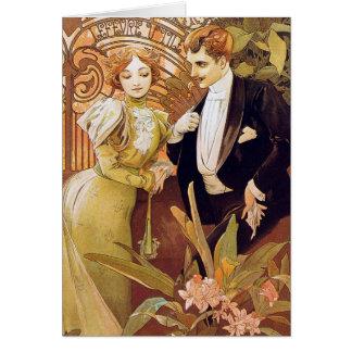 Art Nouveau Flirt Card