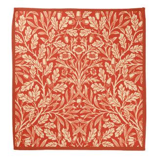 Art Nouveau Floral Damask, Mandarin Orange Head Kerchiefs