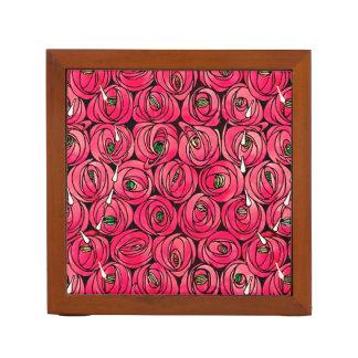 Art nouveau Floral Roses Desk Organizer